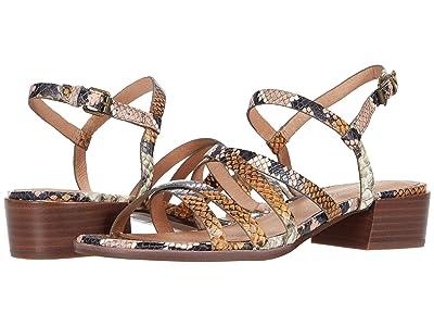 Madewell Natty Skinny Strap Sandal (Forgotten Petal Multi) Women