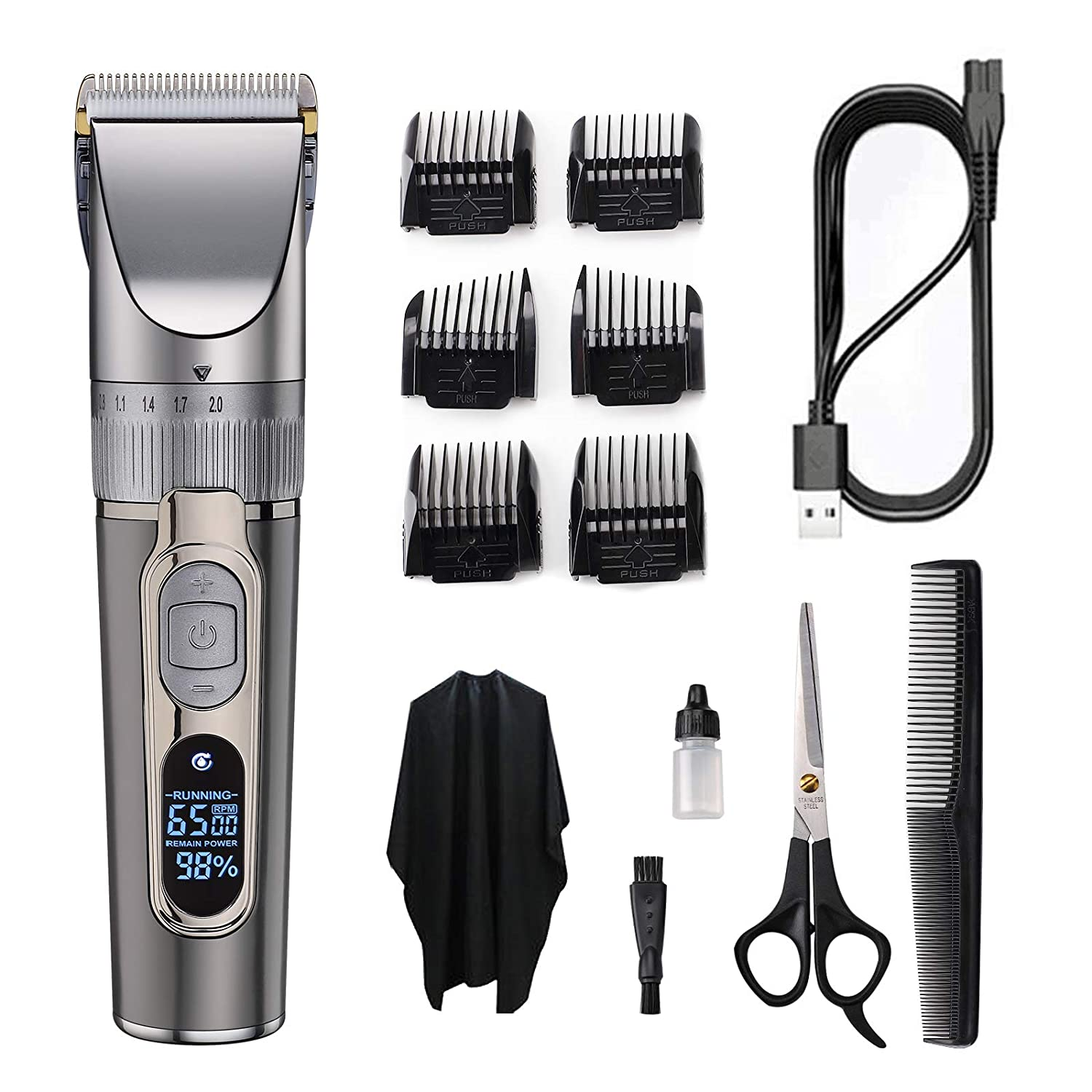 BOLUONI Selling Hair Clippers - Professional Fashion Men for Elec