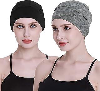غطاء الرأس المنزلي من الخيزران لتساقط الشعر للنساء من كيمو قبعة صلبة خوذة بطانة قطنية