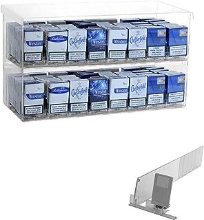 Présentoir de comptoir pour cigarettes (paquet de 20) avec 16 poussoirs tabac