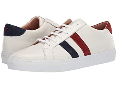 eleventy Double Bicolor Stripe Tennis Sneaker (Red/Navy) Men