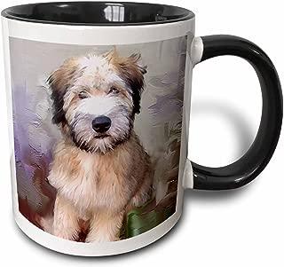 3dRose 4810_4 Soft Coated Wheaten Terrier - Two Tone Black Mug, 11 oz, Multicolored