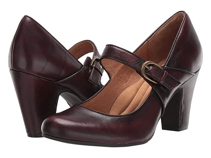 Rockabilly Shoes- Heels, Pumps, Boots, Flats Sofft Miranda Bordeaux Ciclone High Heels $99.95 AT vintagedancer.com