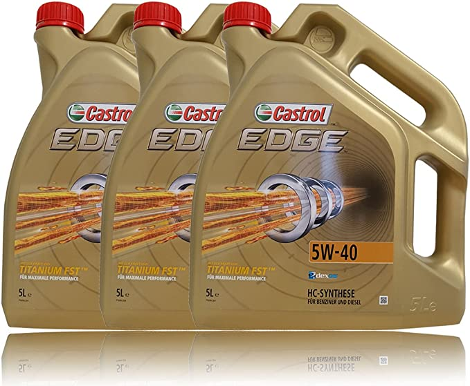 Castrol Edge Fst 5w 40 Motor Öl Motoren Öl 3er Pack 3 X 5l 15l Auto