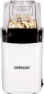 celexon machine à popcorn CinePop CP150-13x19x29cm - blanc - facile à nettoyer - sans huile/faible en graisse - Popcorn-Maker