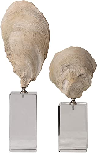"""high quality Uttermost discount 17523 Oyster - 15.25"""" Sculpture (Set sale of 2), Aged Ivory Finish sale"""
