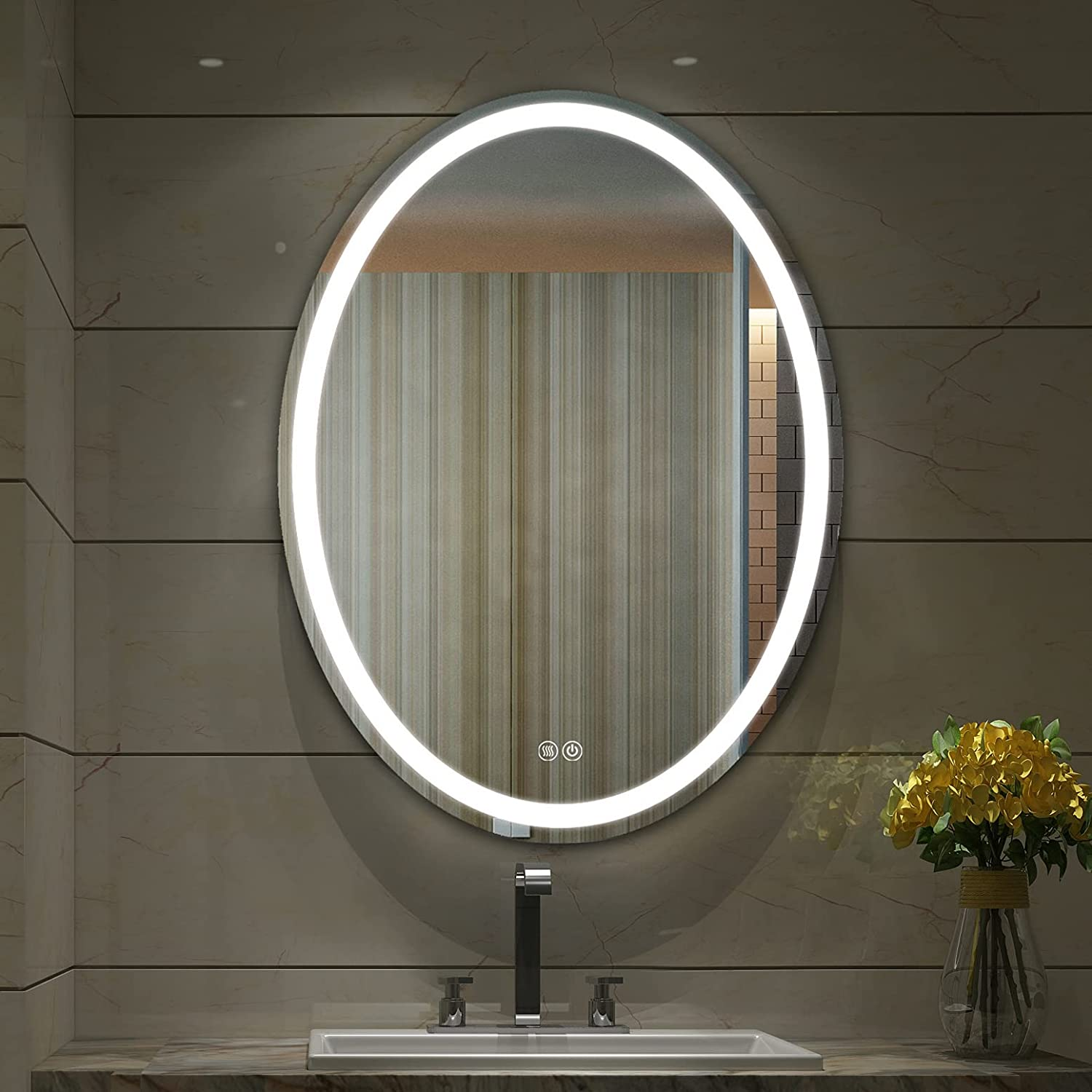 Bathroom Oval Led It is very popular Mirror Lighted 32x24 Ranking TOP14 wi Inch LED Makeup