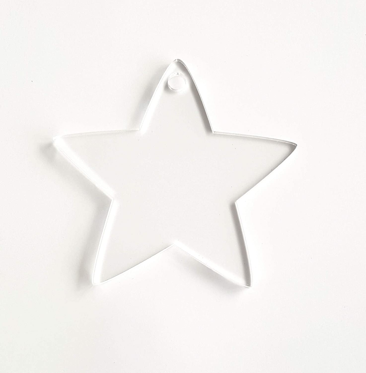 25 OFFicial OFFicial store Acrylic Christmas Ornaments Blanks Stars 1 Clear Thick 4