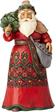 Enesco Jim Shore Heartwood Creek Santa's Around The World Sweden Stone Resin, 7