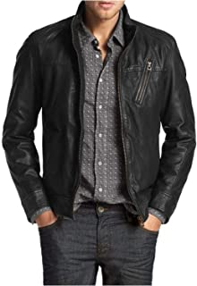 جاكيت Laverapelle رجالي من جلد الخراف الأصلي (أسود، جاكيت كلاسيكي) - 1501210