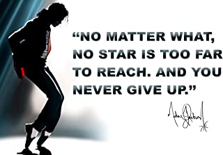 Michael Jackson Poster Quote Classroom Décor MJ King of Pop Quotes Teachers Posters Memorabilia Growth Mindset Decorations Learning Teacher Mindsets Teaching Educational Classrooms Decorations P056
