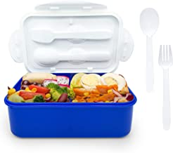 Lunch Box, Bento Box 3-In-1 Compartment with Spoon & Fork, Leak-proof Eco-Friendly Hot Box for Kids and Adults