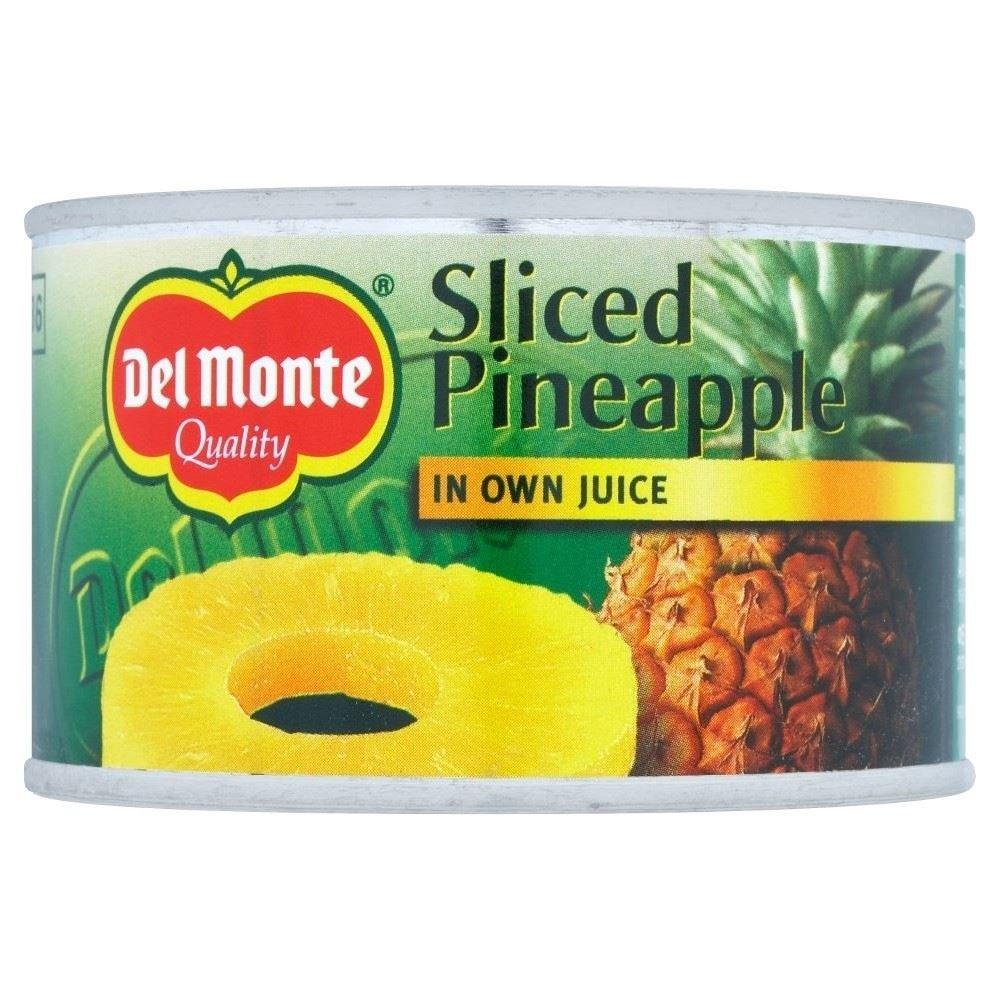 Del Monte Sliced Pineapple in Juice (220g)