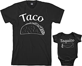 Threadrock Taco & Taquito Infant Bodysuit & Men's T-Shirt Matching Set