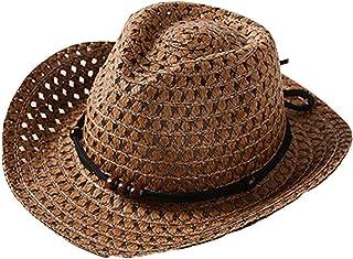 pingtr, Sombrero del bebé niña y niño,Sombrero de Paja Transpirable de Verano para niños el Verano Playa de la Boda Fiesta Sombrero Sol del Gorra del Pescador Bebe del Vaquero