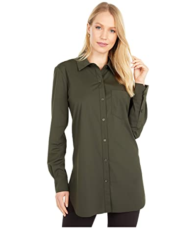 Lysse Schiffer Stretch Microfiber Button Down (Deep Olive) Women