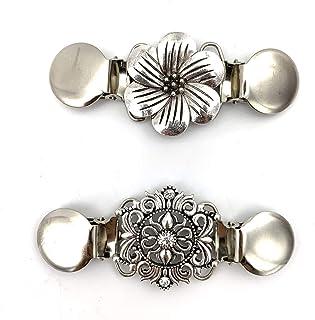 Careor clip per maglione e cardigan, con perline, elegante, confezione da 2 pezzi