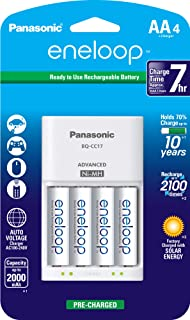 panasonic eneloop aa 4 pack with individual charger
