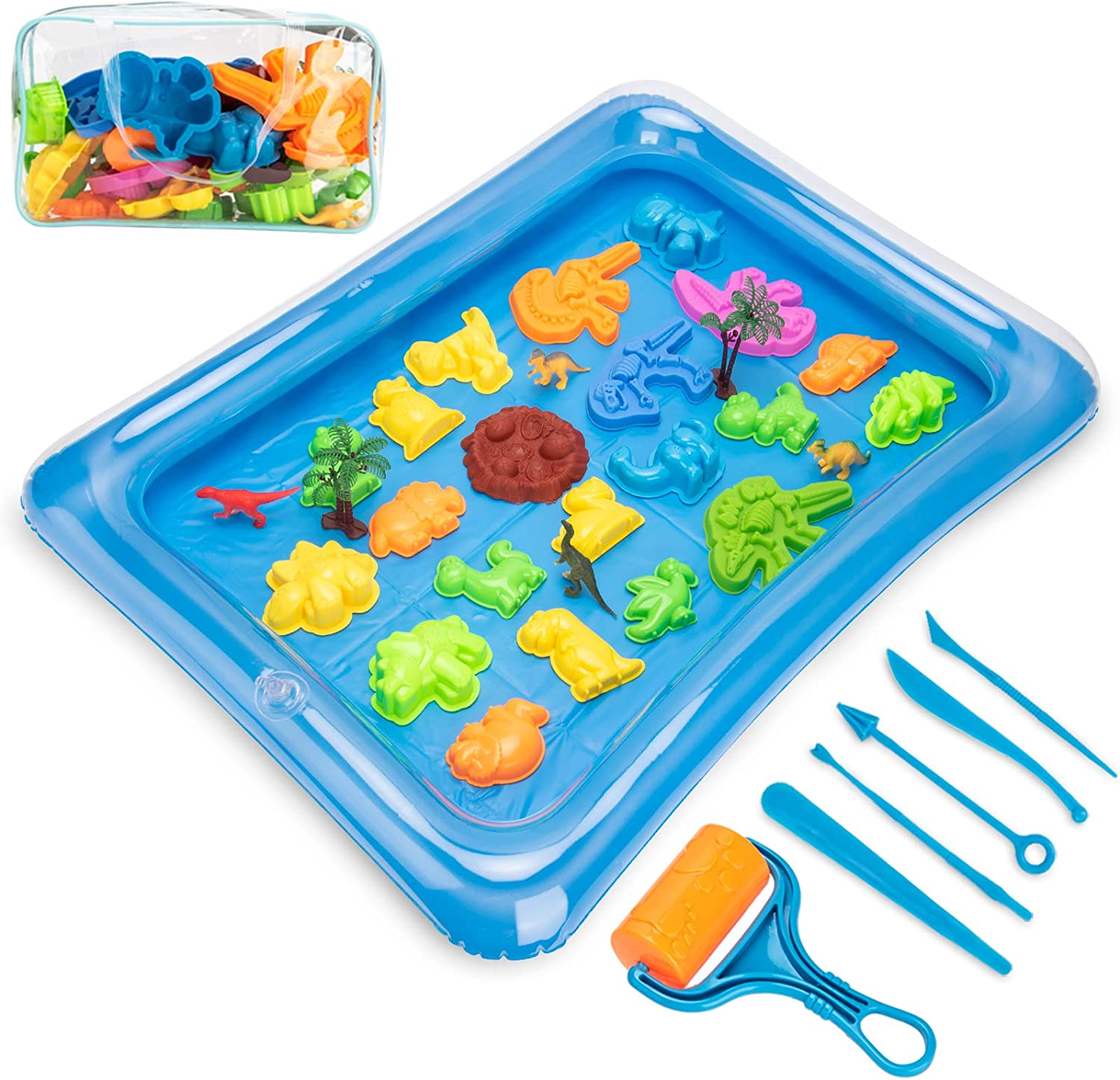35Pcs Sand Molds Toys Outstanding Set Dinosaur Manufacturer regenerated product Tra Kit Figures Tools