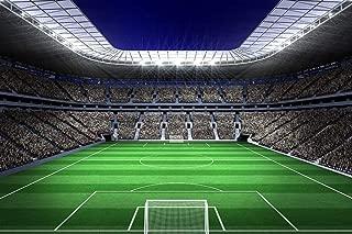 CIQZL Custom Wallpaper Murals Wall Painting Large Football Stadium with Lights Self Adhesive Vinyl Wall Sticker Poster
