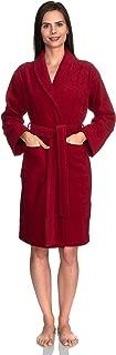 Women's Robe, Turkish Cotton Short Terry Bathrobe Made in Turkey