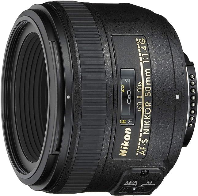 Nikon AF-S 50mm F1.4 G - Objetivo para Nikon (distancia focal fija 50mm apertura f/1.4) color negro