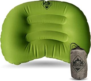 Travel Camping Pillow. Ultralight and Ultra Compact Inflatable Cushion Provides You with A Great Night's Sleep When On The Road Or Trails. Carrying Case Included
