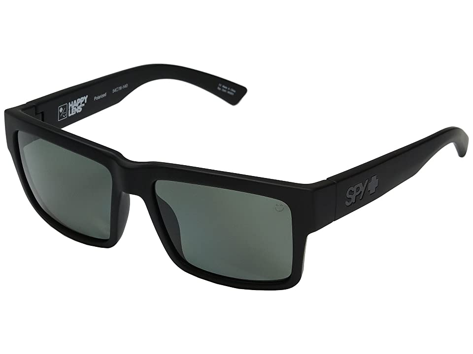 Spy Optic Montana (Soft Matte Black/Happy Gray/Green Polar) Plastic Frame Sport Sunglasses