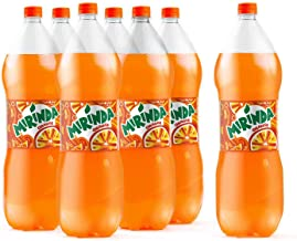 Mirinda Orange, Carbonated Soft Drink, Plastic Bottle, 6 x 2.25L