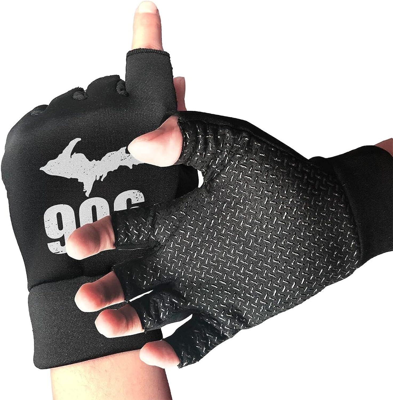 906 4 Life Michigan Non-Slip Working Gloves Breathable Sunblock Fingerless Gloves For Women Men