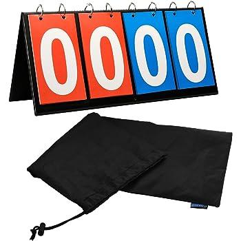 APORO Portable Table Top Scoreboard Flipper Multi Sports Score Flip Scoreboard
