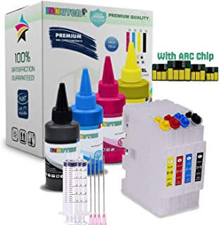INKUTEN 4 SAWGRASS SG400 SG800 SG400NA SG800NA Refillable Cartridges with 4x100ml Sublimation Ink and Auto Reset Chips (for Sublimation Ink, Heat Transfer Printing)