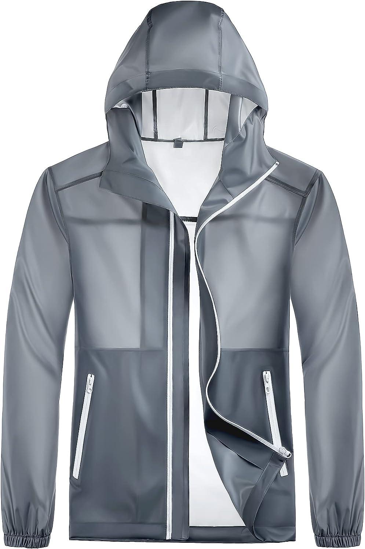 Meahyn Unisex Lightweight Hooded Rain Jacket