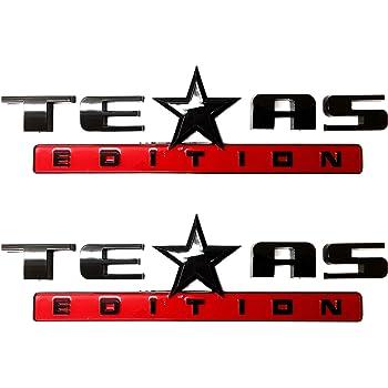 Mr.Brighton LED 2 Count Silver+Black 3D Texas Edition Emblem for Chevy Silverado Sierra Car Truck Auto Universal Decal