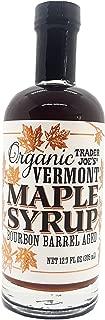 Trader Joe's Organic Vermont Bourbon Barrel Aged Maple Syrup 12.7 Fl. Oz.