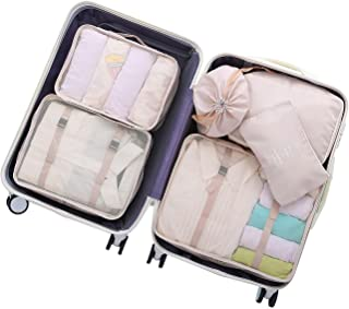 OEE 6 pcs Luggage Packing Organizers Packing Cubes Set for Travel