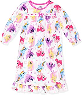 My Little Pony Girls Flannel Granny Gown Nightgown (Toddler/Little Kid/Big Kid)