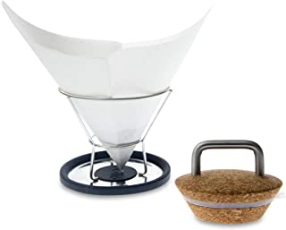 Insulated Cork Lid and Drip-Free Filter Stand for Chemex Coffee Maker- Keep you coffee hotter and drips off your table