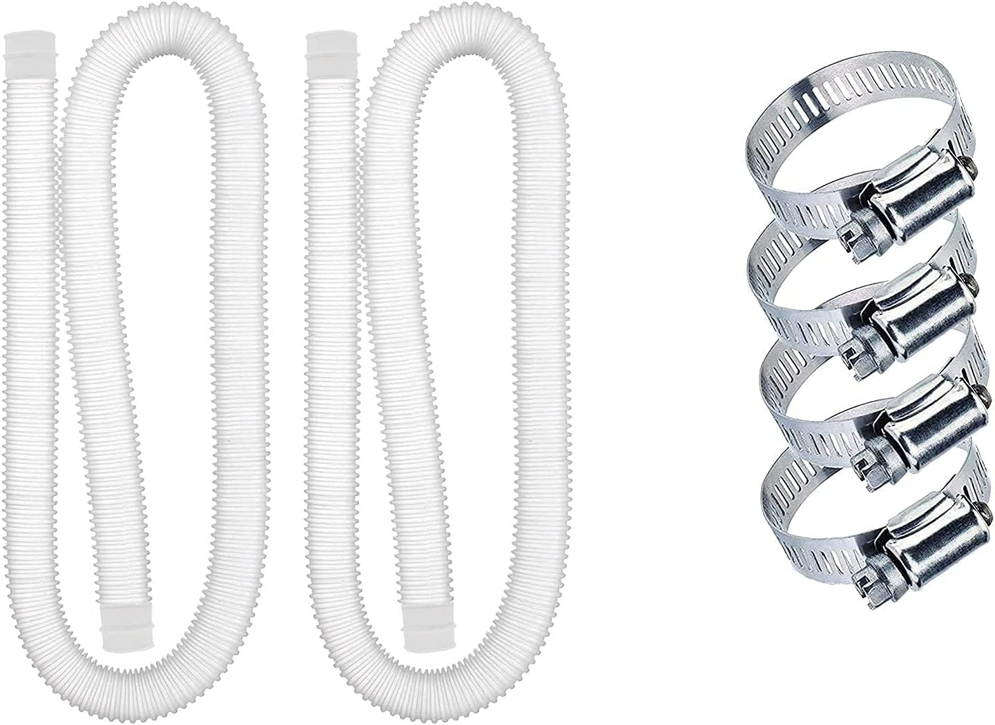 Swimming Pool Replacement Hose,1.25Inches Diameter Replacement Hose,Easy to Install,Pool Filter Replacement Hose Compatible with filter Pump 330 GPH, 530 GPH,1000 GPH(2PCS)