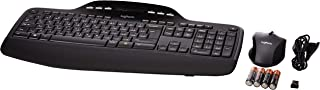 Logitech MK710 Wireless Keyboard and Mouse Combo for Windows, 2.4GHz Advanced Wireless, Wireless Mouse, Multimedia Keys, 3-Year Battery Life, PC/Mac, English/Arabic Layout