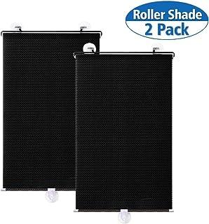 uxcell Car Black Retractable Window Dot Printed Sun Shield Guard 125x45cm