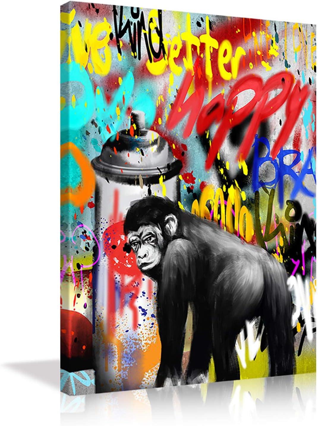 AMEMNY Art 贈呈 King Kong Orangutan Abstract Pop Paintings SALENEW大人気 Graffi