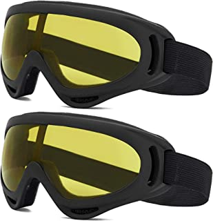 2 Pack Ski Goggles Snowboard Goggles for Men Women & Youth,Snow Goggle Winter Skiing Sport Goggles with Helmet Anti Fog Protection, Anti-Glare Lenses, Wind Resistance