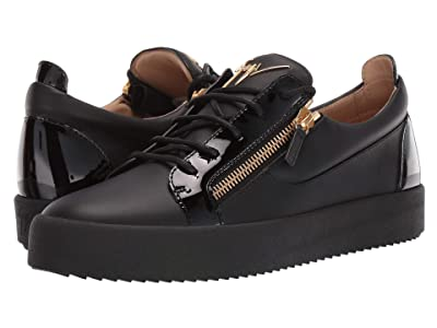 Giuseppe Zanotti May London Textured Low Top Sneaker (Birel/Vague Nero) Men