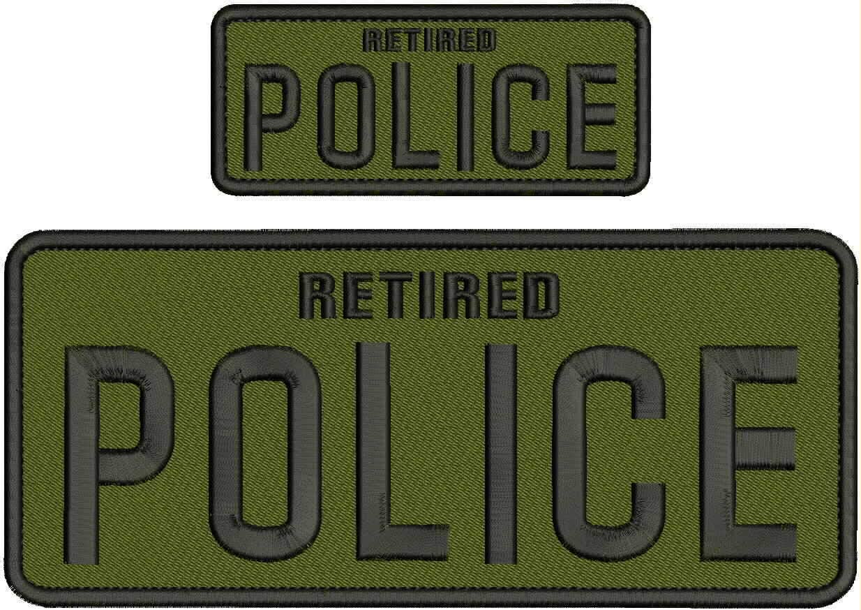 Retired Police trust Embroidery Patch 4X10 NAD Hook Weekly update od 2x5 G on Back