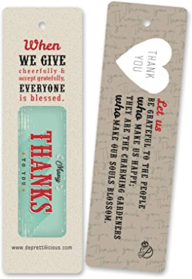 Launching Sale! 60 PCS Thanksgiving Bookmark - Thank You Card - Holiday Gift - Bookmark Bulk
