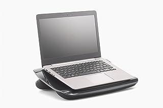 Exponent 50727 Superior - Soporte para ordenador portátil con cojines de espuma suave y ventilador, color negro