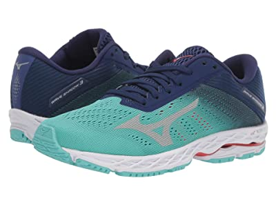 Mizuno Wave Shadow 3 (Blue Grass/Glacier Green) Women