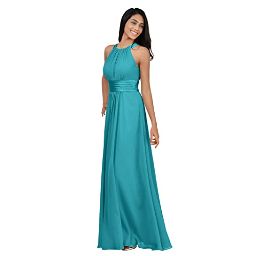 45131853bdb1 Alicepub Bridesmaid Maxi Dresses Long for Women Formal Evening Party Prom  Gown Halter
