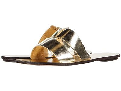 J.Crew Metallic Interlocking Cyprus Sandal (Metallic Gold) Women